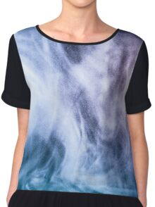 Blue and purple abstract heavenly clouds Women's Chiffon Top