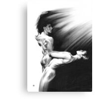Shadow twister Formation - conté drawing Canvas Print