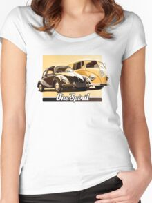 One Spirit - Beetle & Bus Women's Fitted Scoop T-Shirt