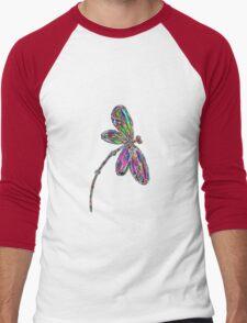 Dragonfly  Neon  Men's Baseball ¾ T-Shirt