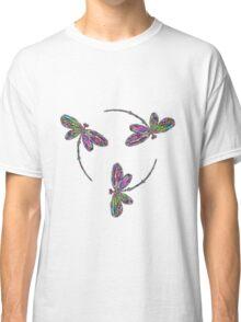 Neon Trinity Dragonflies Classic T-Shirt