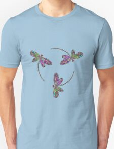 Neon Trinity Dragonflies Unisex T-Shirt