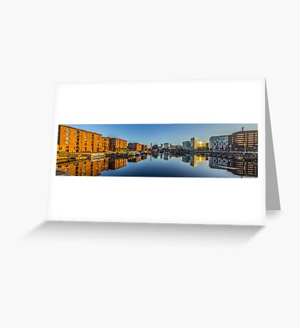 Sunrise at the Salthouse Dock Greeting Card