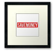 Vic Mensa Save Money Logo  Framed Print