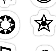 Sticker Sheet 2- black and white symbols tumblr aesthetic Sticker