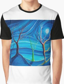 Trees in blue space  Graphic T-Shirt
