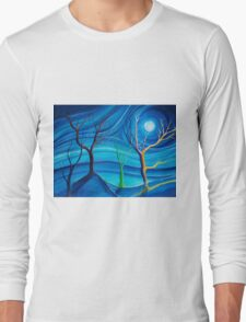 Trees in blue space  Long Sleeve T-Shirt