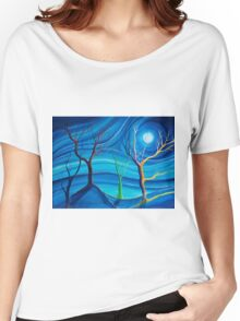 Trees in blue space  Women's Relaxed Fit T-Shirt