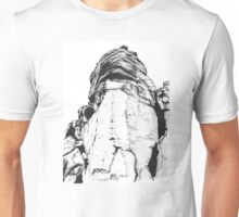Valkyrie Climbing route Froggat edge in the peak district  Unisex T-Shirt