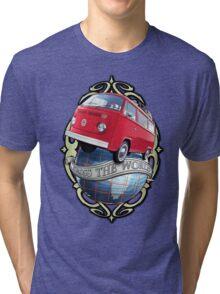 T2 Bus - Cross the World Tri-blend T-Shirt