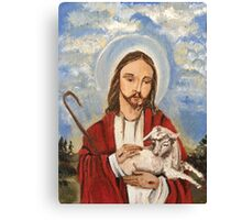 Christ the good shepherd Canvas Print