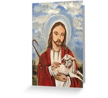 Christ the good shepherd Greeting Card