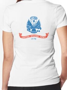 United States Army, American, ARMY, US, USA, 1775, Official flag, America,  Women's Fitted V-Neck T-Shirt