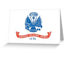 American, ARMY, USA, Official flag, United States Army. America,  Greeting Card