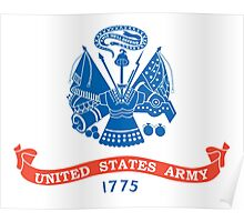 ARMY, USA, Official flag, United States Army. America, American Poster