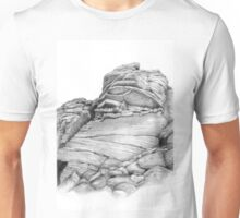 Flying Buttress climbing route Stanage Edge in the Peak District  Unisex T-Shirt
