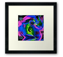Psychedelic Trippy Abstract Pattern  Framed Print