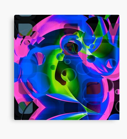 Psychedelic Trippy Abstract Pattern  Canvas Print