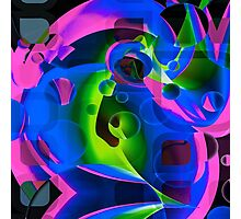 Psychedelic Trippy Abstract Pattern  Photographic Print