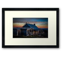 Craigs Hut - Mount Stirling - Victorian High Country Framed Print