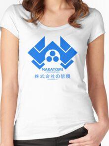 NAKATOMI PLAZA - DIE HARD BRUCE WILLIS (BLUE) Women's Fitted Scoop T-Shirt