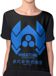 NAKATOMI PLAZA - DIE HARD BRUCE WILLIS (BLUE) Chiffon Top