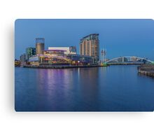 Salford Quays and Lowry Centre Canvas Print
