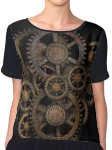 Gears on your Gear Chiffon Top
