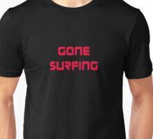 Gone Surfing T-Shirt Cool Surf Clothing Sticker Unisex T-Shirt