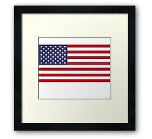 Made In USA Flag Decals - American Product Sticker Framed Print