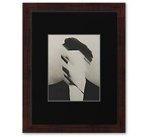 Distortion and Static Framed Print