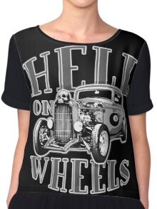 Hell on Wheels - Monotone Chiffon Top