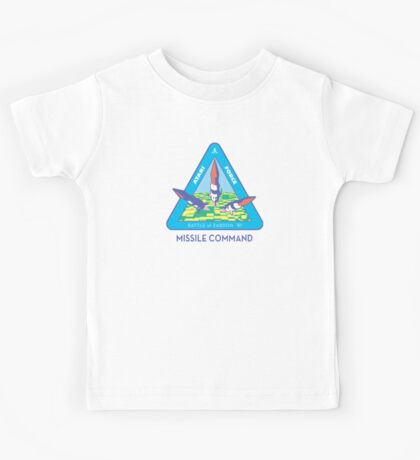 MISSILE COMMAND - ATARI CLASSIC PATCH Kids Tee