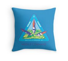 MISSILE COMMAND - ATARI COLD WAR Throw Pillow