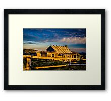 Craigs Hut Sunrise - Mount Stirling - Victorian High Country Framed Print