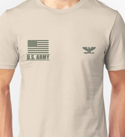 Colonel Infantry US Army Rank Desert by Mision Militar ™ Unisex T-Shirt