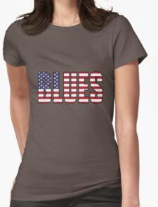 Blues Womens Fitted T-Shirt