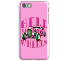Hell on Wheels - Hot Pink iPhone Case/Skin