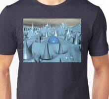 Blue Spikes Alien Terrain Unisex T-Shirt