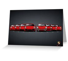 History Porsche 911 Greeting Card