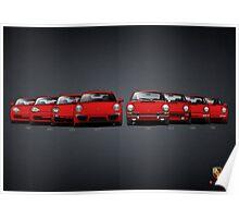 History Porsche 911 Poster