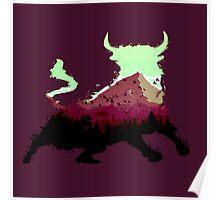 Mountain Bull Poster