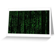 Matrix Pattern Wide Greeting Card