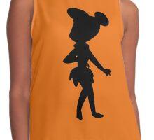 Cartoon silhouettes - Flintstone - Transparent background Contrast Tank