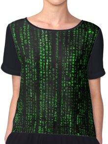 Matrix Pattern Tall Chiffon Top