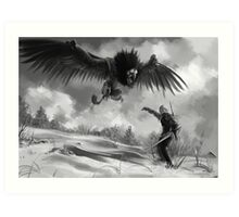 The beast of White Orchard Art Print