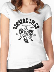 mexican wrestling lucha libre11 Women's Fitted Scoop T-Shirt