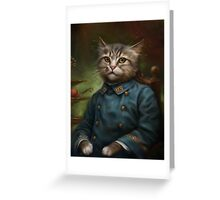 The Hermitage Court Confectioner Apprentice Cat  Greeting Card