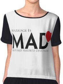 MAD MARRIAGE - Black Chiffon Top