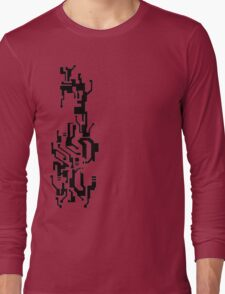 Mirror's Edge Faith digital tattoo pattern Long Sleeve T-Shirt